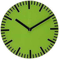 Refelx Non-Ticking Silent Acrylic Wall Clock, Small, Color, Green