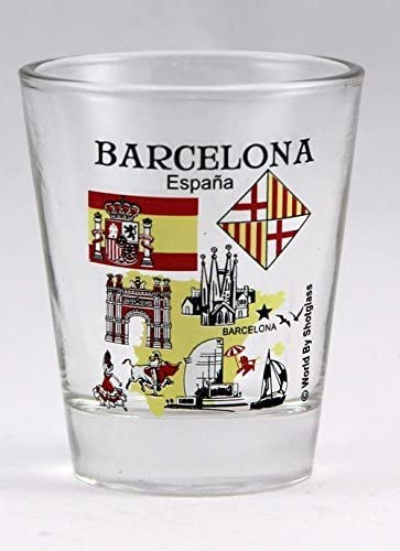 Barcelona España Great Spanish Cities Collection - Vaso de chupito: Amazon.es: Hogar