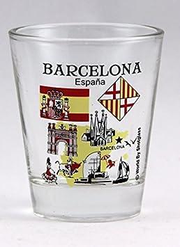 Barcelona España Great Spanish Cities Collection - Vaso de chupito: Amazon.es: Hogar