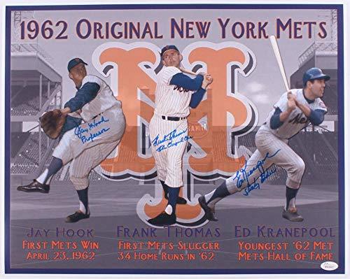1962 NEW YORK METS AUTOGRAPHED 16x20 PHOTO () - Hook, Thomas, Kranepool! - JSA Certified - Autographed MLB Photos