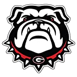 Georgia Bulldog Extra Large Die Cut Vinyl Decal, New Bulldog Head, Cornhole