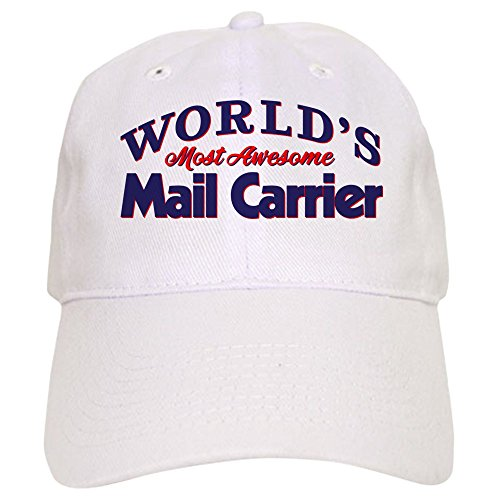 CafePress World's Most Awesome Mail Carrier - Baseball Cap with Adjustable Closure, Unique Printed Baseball Hat