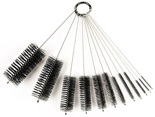 8 Inch Nylon Tube Brush Set, 12 Piece Variety Pack ()
