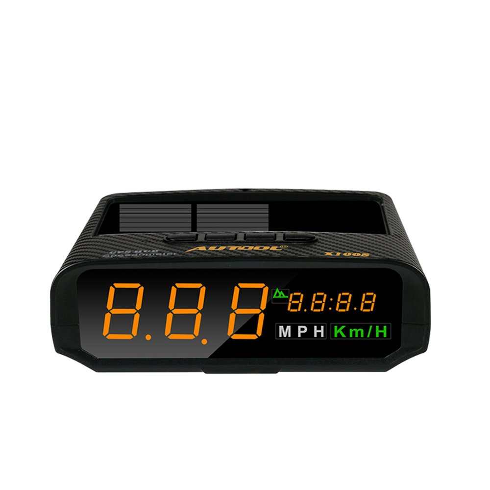 B-Qtech Solar Power GPS HUD Head Up Display, Speedmeter MPH/KMH with Altitude Over Speed Alarm Drive Distance Display Fatigue Driving Alarm by B-Qtech (Image #1)