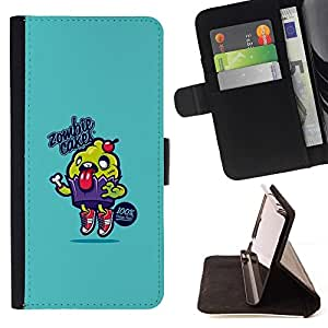 Momo Phone Case / Flip Funda de Cuero Case Cover - Zombi Tortas - Divertido lindo - Apple Iphone 6