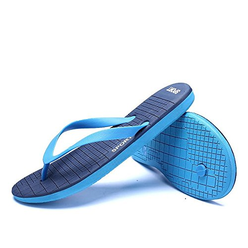 Sunny amp;Baby Size Thong Color Sandals Durable to Leisure Flip Blue 8 Blue Beach Size up Large Slipper 10MUS Size 5MUS Flop Men's Swwndqrf
