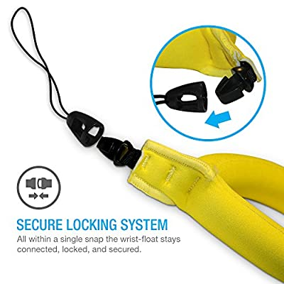 TETHYS Waterproof Camera Float [Buoyance Series] Waterproof Float Strap for Underwater Camera and Waterproof Life Pouch Case -[ Bright Yellow]