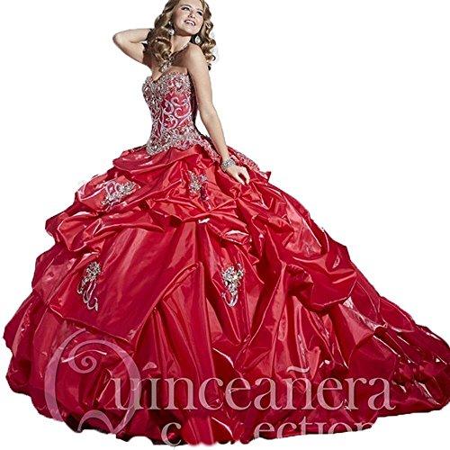 Innamorato Cristalli Delle Donne Rosso Abiti Quinceanera Angela Di Degli Dolci Abiti 16 Sfera dgxUg1a