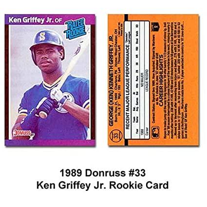 Ken Griffey Jr 1989 Donruss Bb Rookie Card Rated Rookie