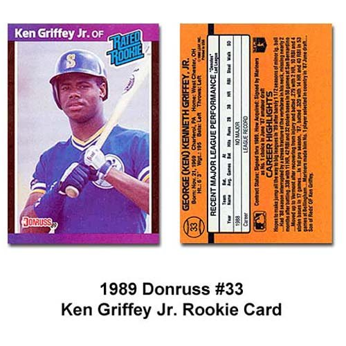 (Ken Griffey Jr. 1989 Donruss BB Rookie Card (Rated Rookie))