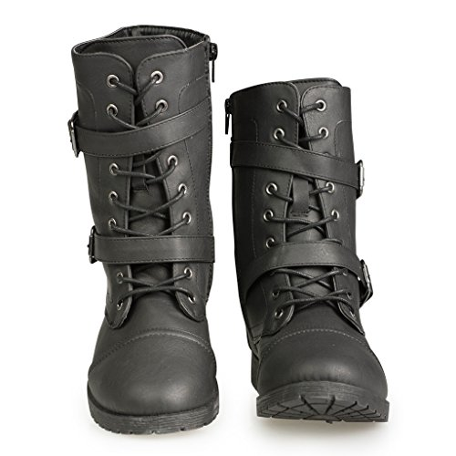 Twisted Women's Ainsley Fashion Military Boot