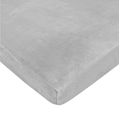 (American Baby Company Heavenly Soft Chenille Fitted Pack N Play Playard Sheet, Gray, 27 x 39, for Boys and Girls)