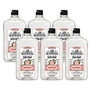 J.R. Watkins Dish Soap, Liquid, 24 fl oz, Grapefruit (6 pack)