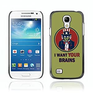 Designer Depo Hard Protection Case for Samsung Galaxy S4 Mini / I Want Your Brains