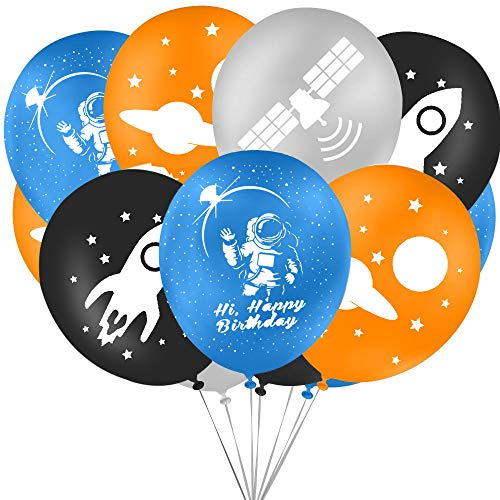 (Outer Space Party Supplies Latex Balloons-Great for Children's Birthday Party, Space Theme Party or the School Classroom(24)