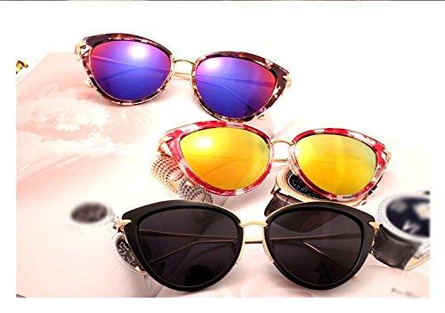 Patrón lente Hombre púrpura violeta DESESHENME cristalino Gafas Clásico azul conducción gafas canto de de edge de modelo sol Mujer azul Lujo de sol de AUUqwB