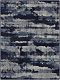 "Brumlow Mills EW10004-30×46 Gaines Contemporary Area Rug, 2'6″ x 3'10"", Navy Review"
