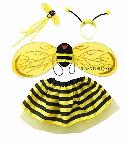 LOLASATURDAYS Fairy Wing and Dress Set (Bumble Bee Costumes Child)