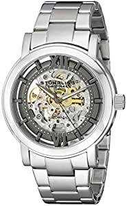 Stuhrling Original Men's 426.33111 Classic Winchester XT Automatic Skeleton Black Dial Stainless Steel Bacelet Watch
