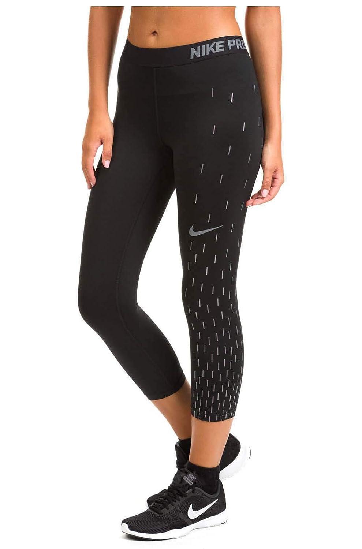 new product 087fa ac44b Nike Women s Linear Rain Dri-fit Capri Leggings-Black-XS at Amazon Women s  Clothing store