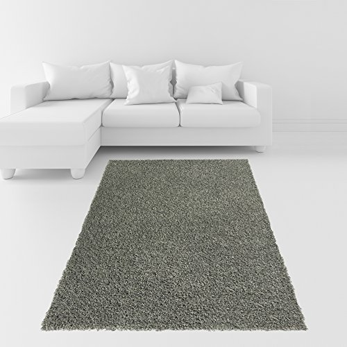 Soft Shag Area Rug 3x5 Plain Solid Color GREY - Contemporary Area Rugs for Living Room Bedroom Kitchen Decorative Modern Shaggy Rugs (2x3 Purple Rug)