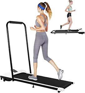 AceTT Folding Under Desk Treadmill for Home, 300 Lbs Weight Capacity | Foldable Electric Walking Machine w/LCD Display | Indoor Running Jogging Exercise Cardio Training for Home Office & Gym