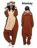 Belle House Adult Animal Unisex Pyjamas Halloween Onesie Costume Monkey