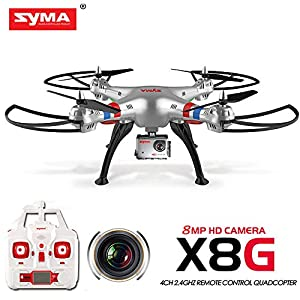 Syma X8g 2.4g 4ch 6 Axis Drone with 8mp 1080p Action Hd Camera, Rc Quadcopter RTF Helicopter - 51SW9tGzHwL - 2015 New Version Syma X8g 2.4g 4ch 6 Axis Drone with 5mp 1080p Action Hd Camera, Rc Quadcopter RTF Helicopter