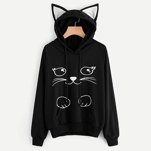 Siswong Sudaderas Mujer Element Sudaderas Mujer Im a Cat Sudaderas Kawaii Invierno Mujer 2017/2018 (S): Amazon.es: Ropa y accesorios