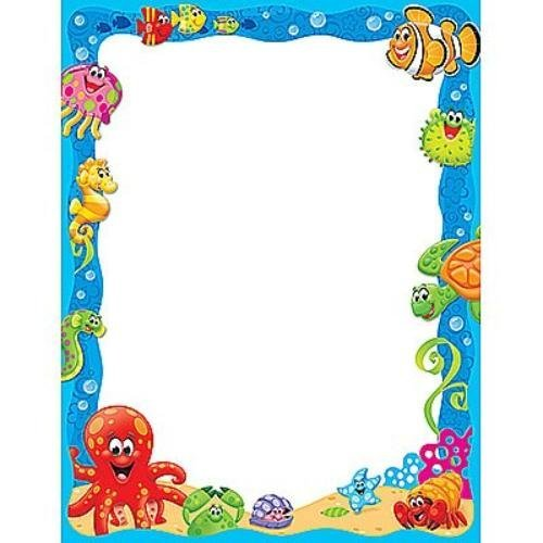 Trend Enterprises Inc Sea Buddies Collection Terrific Papers T11456 by Trend Enterprises Inc
