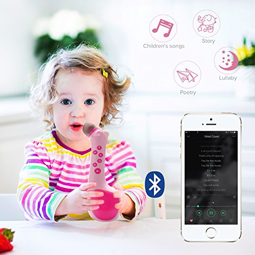 Kids Magic Microphone Speaker with Voice changing and recording by Termichy Blue