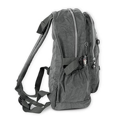 Bag Street Nylon Rucksack Bag Wanderrucksack Backpack Freizeit Arbeit City (Grau) Grau