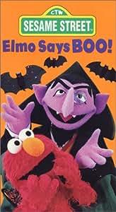Amazon.com: Sesame Street - Elmo Says Boo [VHS]: Jim ...