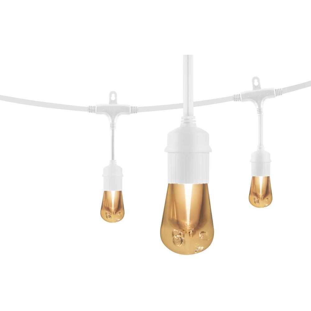 48 ft. Vintage LED Cafe String Lights, White