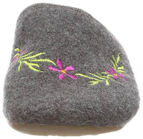 Open 04 Grey Slippers Flower Anthrazit Women's Back Dakota Haflinger Cqa7tn