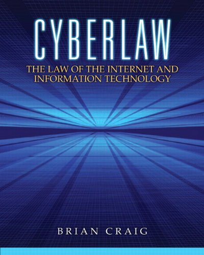 Pdf Money Cyberlaw: The Law of the Internet and Information Technology