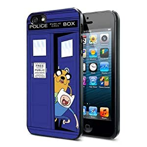 Adventure Time Finn and Jake Tardis Police Box Case (For HTC One M7 Phone Case Cover )
