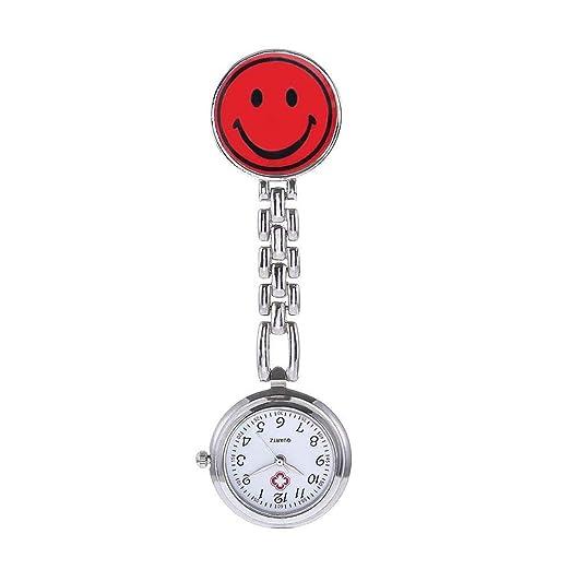 Hermosos Relojes Enfermera Enfermera Colgando Mesa Mesa Smiley Smiley Reloj de Bolsillo de Cuarzo electrónico de Moda: Amazon.es: Relojes