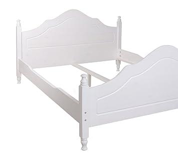 Holzbett massiv weiß  Bett Holzbett Doppelbett KIPR 160 x 200 Kiefer massiv weiß ANGEBOT ...