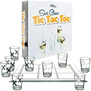 Fairly Odd Novelties Shot Glass TIC TAC Toe Fun Party Board Drinking Game for Two/Couples, One Size, Clear
