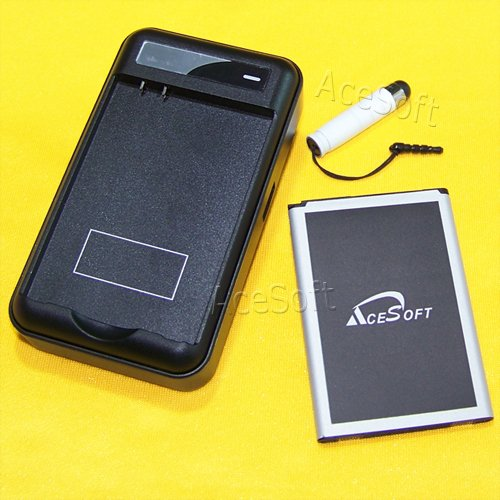 New 4000mAh Extended Slim Battery External Wall USB/AC Charger Pen for T-Mobile LG G4 H811 Android Phone by AceSoft