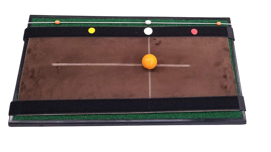 Spornia Golf Hitting Mat (1 ft. x 2 ft) Swing Indicator Trainers   Practice Low-Point Training   Improve Ball Contact & Swing Path