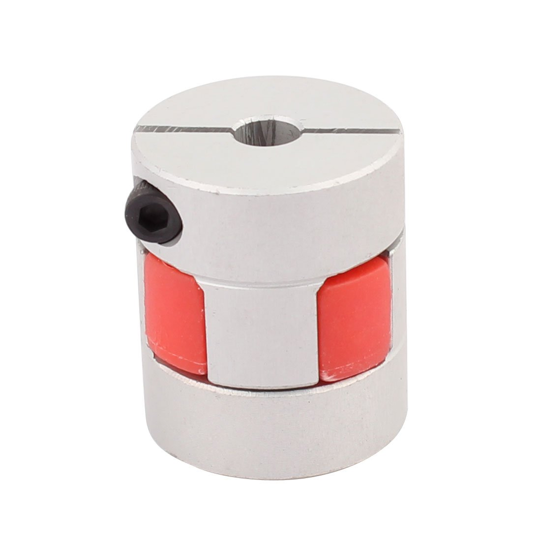 uxcell 8mm to 10mm Shaft Coupling 30mm Length 25mm Diameter Motor Coupler Aluminum Alloy Joint Connector for DIY Encoder