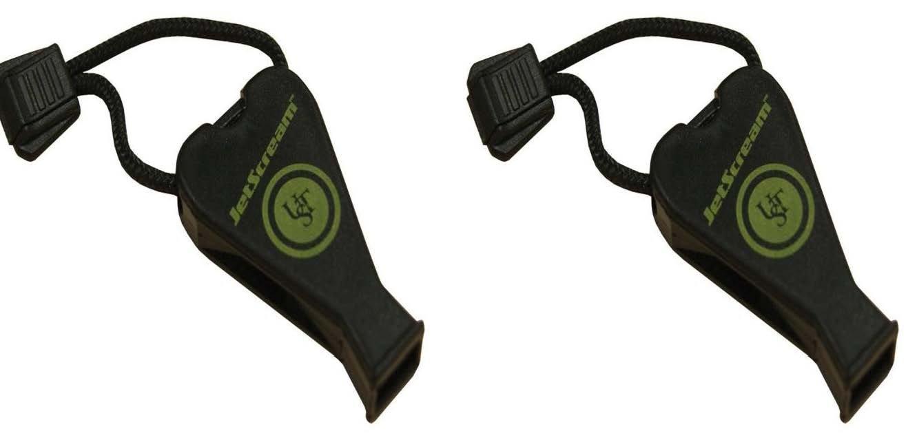 Ultimate Survival Technologies JetScream Whistle - Black - 2 Count by Ultimate Survival Technologies