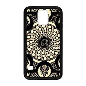 Hoomin Charming Mandala Fire Pattern Samsung Galaxy S5 Cell Phone Cases Cover Popular Gifts(Laster Technology)