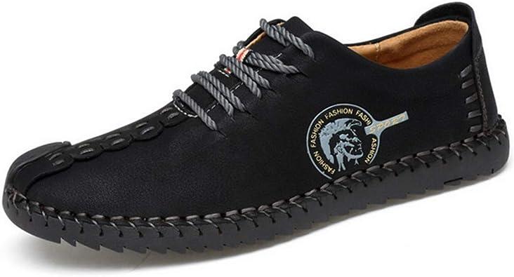 Hombres Mocasines Buena abrasión cómodo Durable Calidad Split Cuero Hombre Zapatos Casuales: Amazon.es: Zapatos y complementos