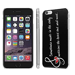 NakedShield Iphone 6 Plus (5.5) (Music Note Quote) SLIM Art Phone Cover Case