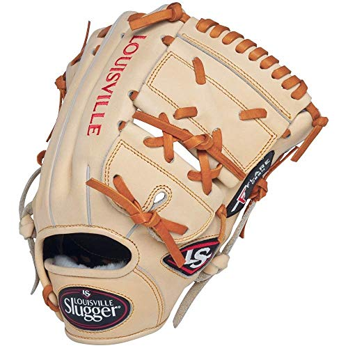 Louisville Slugger FGPF14 Pro Flare Cream Fielding Glove, 11.75-Inch, Right Hand Throw