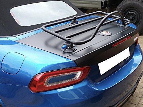 Abarth FIat 124 Spider Trunk Rack Unique Design, No Clamps No Straps No Brackets No Paint Damage