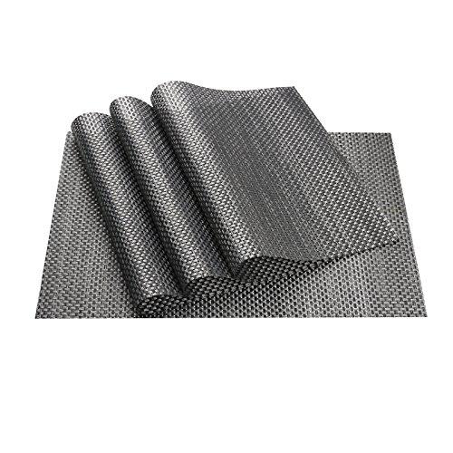 Tischsets (4er Set), vGoodo Platzsets Placemats Wasserdichte schmutzabweisend Isolierung , 45 * 30cm (Schwarz)